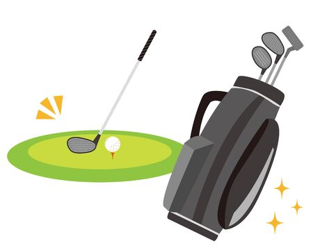 Golf club icon.  illustration Vector about golf .  golf club bag Иллюстрация