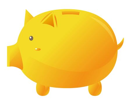 Pig piggy vector illustration .