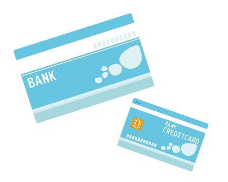 Passbook , credit card, Cash card, Vector illustration