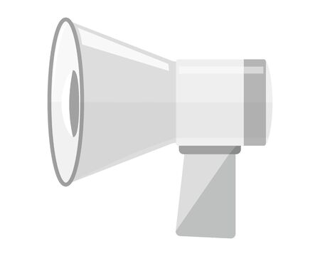 Sale megaphone vector illustration .  Delivery promotion and bargain icons .