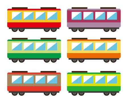 Train Vector Illustration, vehicle icon