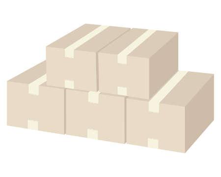 Vector illustration of cardboard box .