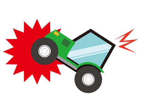 car crash and accidents icons .