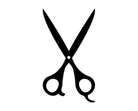 Vector illustration of scissors, stationery scissors