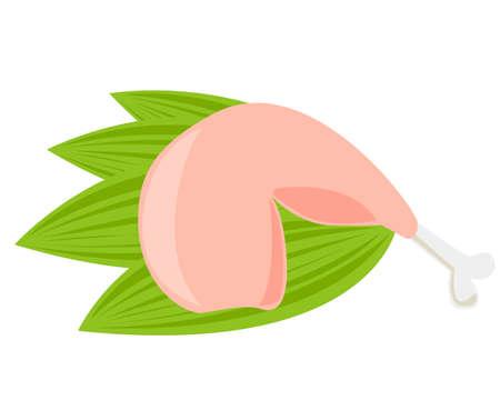Vector illustration of chicken .