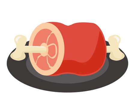 Vector illustration of chicken . Roast chicken