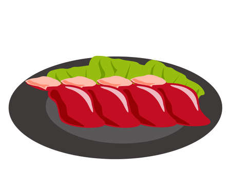 vector fresh chicken liver sketch illustration .