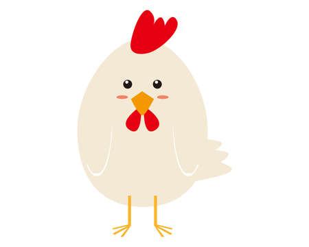 Vector Illustration of Chicken . 免版税图像 - 151388638