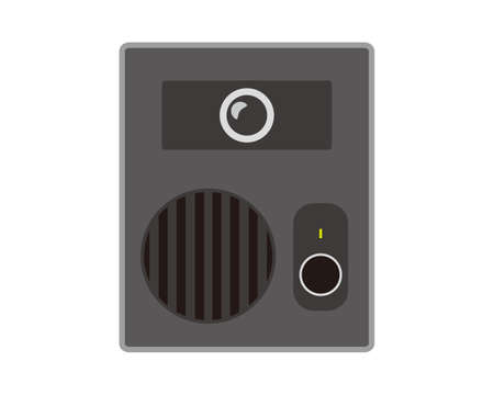 Vector illustration of an intercom at the entrance .