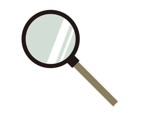 Magnifying glass vector illustration, icon