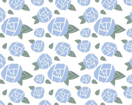 Illustration of floral pattern background . Rose background .