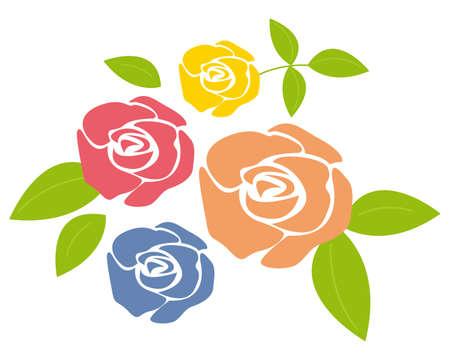 Vector illustration of a rose.
