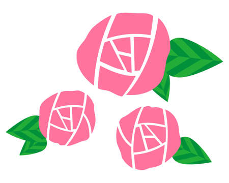 Vector Illustration of the Present rose . pink rose Ilustrace