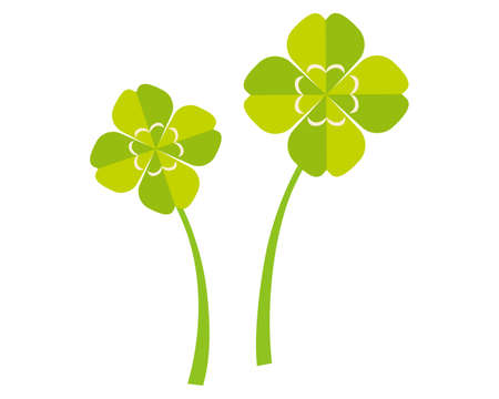 Vector illustration of colorful clover. four Leaf Clover Ilustrace