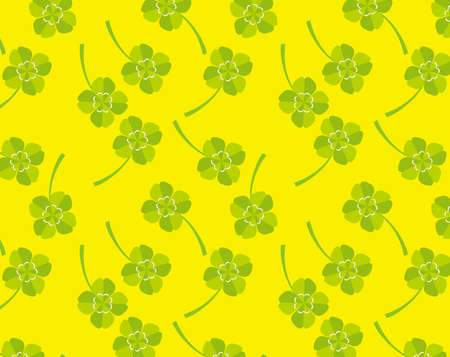 Four leaf clover background image Colorful clover vector illustration. Seamless pattern