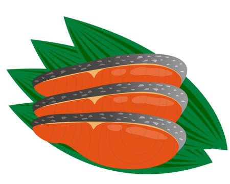 Sockeye fillet vector illustration .