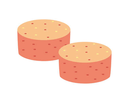 Vector illustration of Mentaiko. Japanese traditional food.