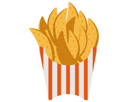 Vector illustration of french fries . Vettoriali