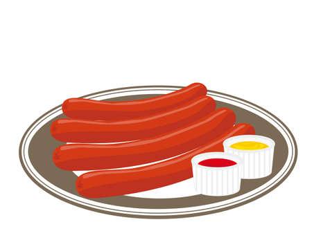 illustration of Sausage. Frankfurter