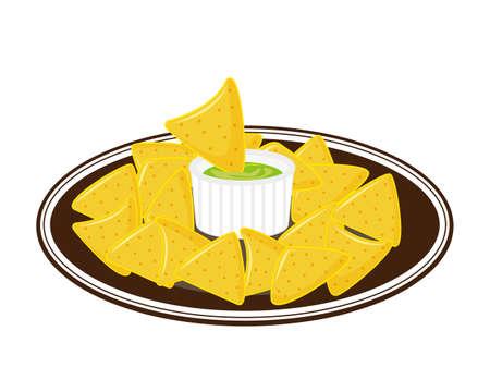 Vector illustration of tortilla chips.