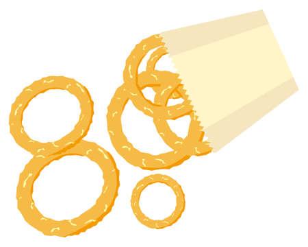 Vector illustration of onion ring.