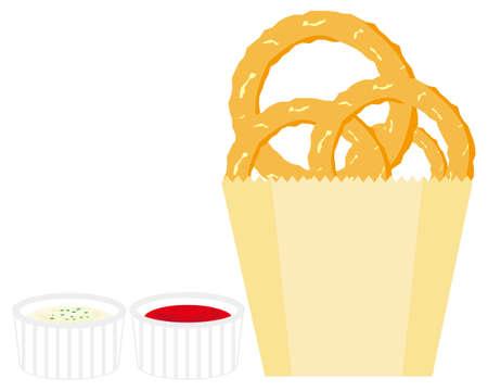 Vector illustration of onion ring.  Vecteurs