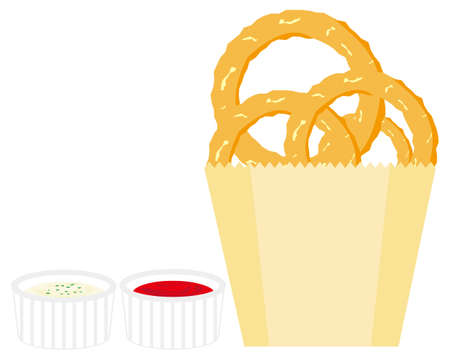 Vector illustration of onion ring.  Ilustração