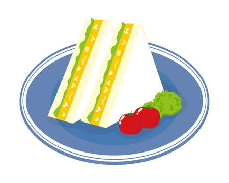 Vector illustration of sandwich.  Egg sandwich Иллюстрация