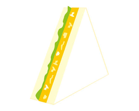 Vector illustration of sandwich. Egg sandwich