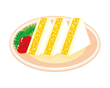 Vector illustration of sandwich. Egg sandwich