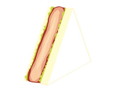 Vector illustration of sandwich.  Cutlet sandwich.