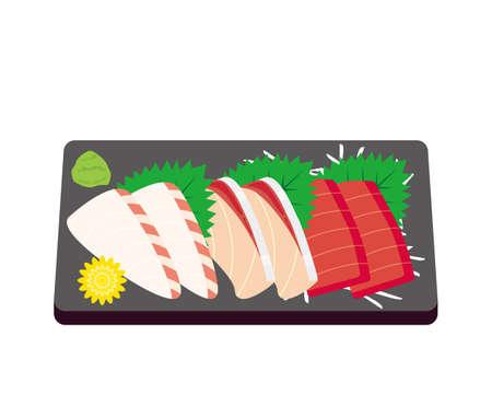 Vector illustration of yellowtail, sea bream and tuna 일러스트