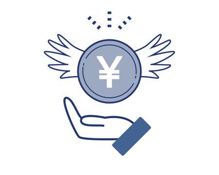 Vector illustration of finance . Coin. gold .Money
