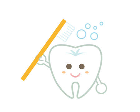 Tooth character illustration. Dentist.