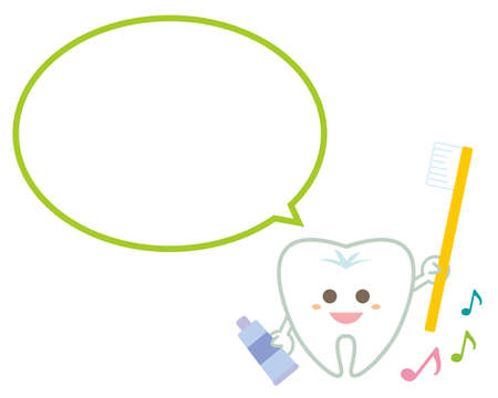 Tooth character illustration. Dentist. Heading. flame.