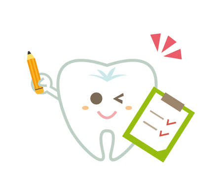 Tooth character illustration. Dentist . dental clinic