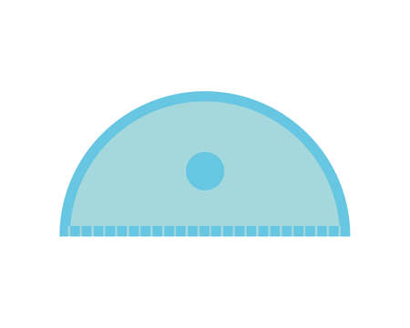 Vector illustration of a ruler. Measuring rod