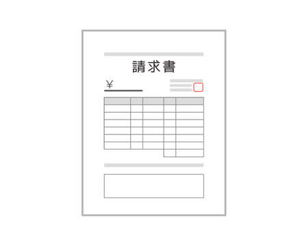 Vector illustration of invoice. Documents .