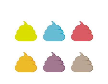 Vector illustration of cute poop. Health. Vektorové ilustrace