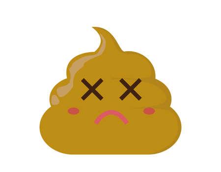 Vector illustration of cute poop. Health. Poop character . Vektorové ilustrace