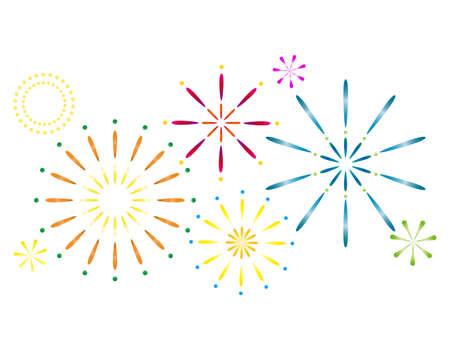Vector illustration of fireworks.
