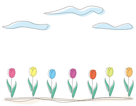 Vector illustration of a simple tulip.