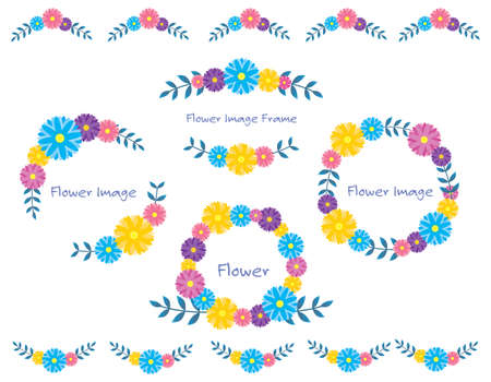 Colorful flower frame. Lease. Frame. flame.
