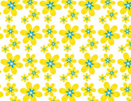 Colorful flower pattern. Vector. Background. Illustration
