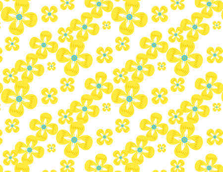 Colorful flower pattern. Vector. Background. 向量圖像
