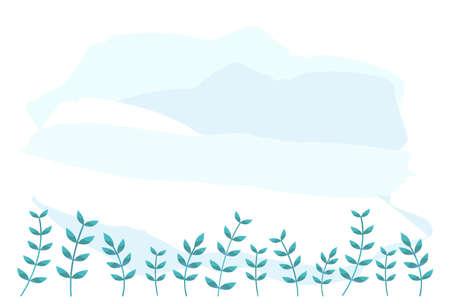 Postcard in mourning. Simple grass background. Ilustração