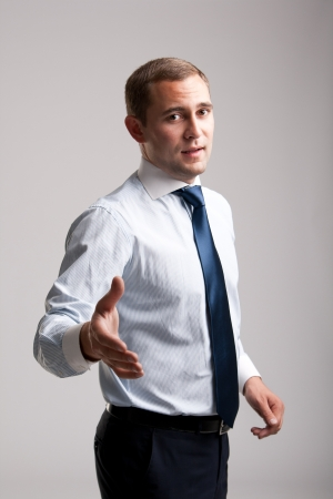 Young and successful businessman  photo
