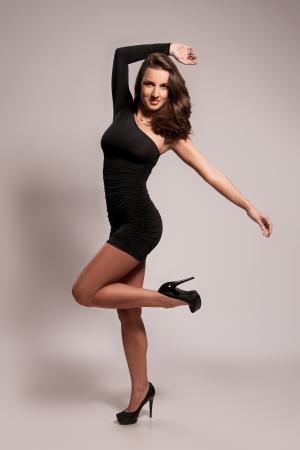 ladylike: Fashion portrait of  attractive female Stock Photo