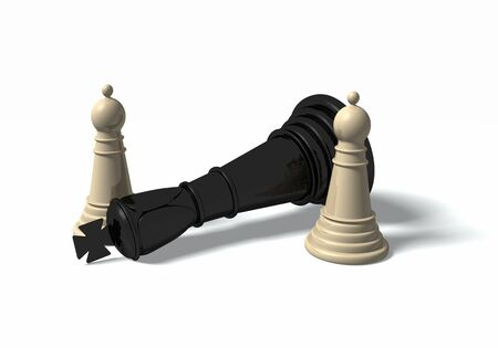 High resolution 3D illustration of a chess figures