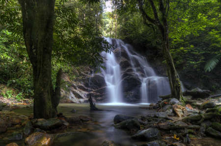 earthly: Earthly Paradise of Kanching Waterfalls Stock Photo
